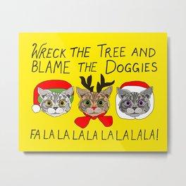 Holiday Cat Brats Metal Print
