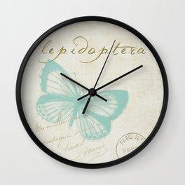Lepidoptera Wall Clock