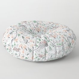 Enchanted Forest Map Floor Pillow
