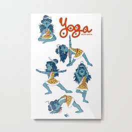 Yoga with Shiva Metal Print
