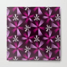 Fragmented Pink Burst Metal Print