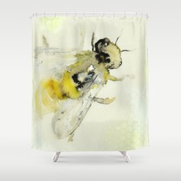 Bee with Honeycomb I Shower Curtain