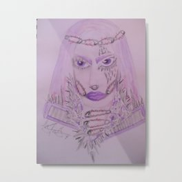 Safety Pin Queen. Metal Print