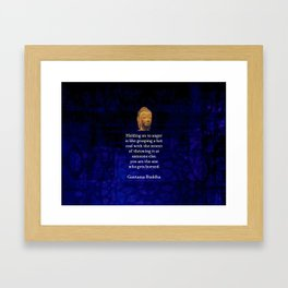 Holding On To Anger Inspirational Buddha Quote Framed Art Print