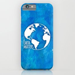 Earth Matters - 01 Blue Watercolors iPhone Case