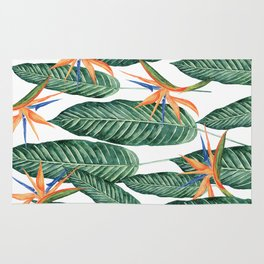 Banana And Flowers #society6 Rug