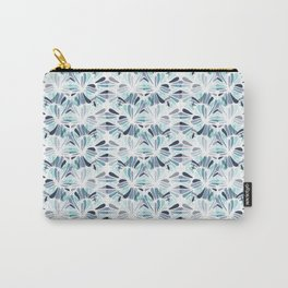 Blue Tone Optical Illusion Whirl Pattern Concept Art Carry-All Pouch