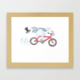 Walden's Red Bike Framed Art Print