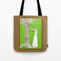 merlin Tote Bags featuring Nimue & Merlin by TheScienceofDepiction