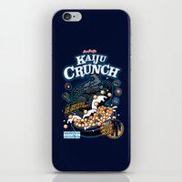 kaiju iPhone & iPod Skins featuring Kaiju Crunch by Matt Dearden