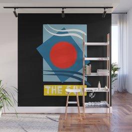 The Sun Tarot Card Abstract Futurist Art  Wall Mural