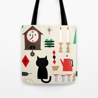home sweet home Tote Bags featuring Home by Charmy