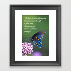 Beautiful Butterfly Quote Framed Art Print