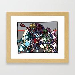 LAX Scramble Framed Art Print