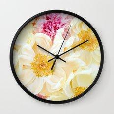 peony cascade Wall Clock