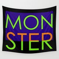 monster Wall Tapestries featuring Monster by VirgoSpice