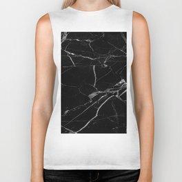 modern black marble look Biker Tank