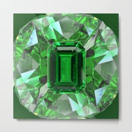 EMERALD GREEN MAY BIRTHSTONES ART Metal Print