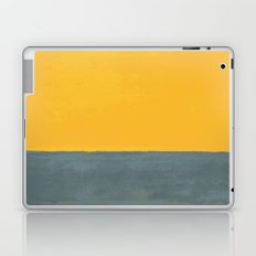 Plain color Blue and yellow art print Laptop & iPad Skin