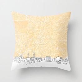 Nicosia Cyprus Skyline Map Throw Pillow