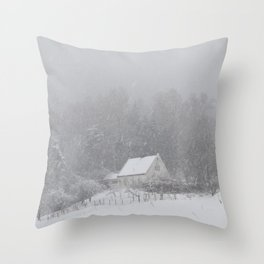 Snøhus Throw Pillow