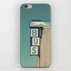 Greyhound Bus Sign iPhone & iPod Skin