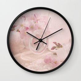 Almond blossoms in Vintage Style Wall Clock