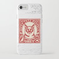 obey iPhone & iPod Cases featuring OBEY by solomnikov