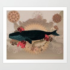 The Flying Whale Art Print