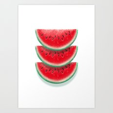 Slices of watermelon Art Print