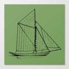 Eka Green Canvas Print