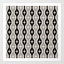 Mid century Modern Bulbous Star Pattern 124 Art Print