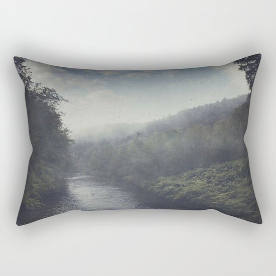 Wilderness in Mist Rectangular Pillow