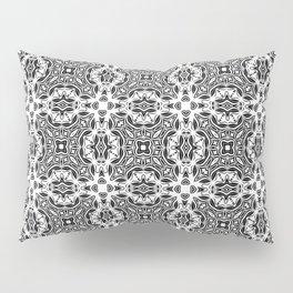black and white Damascus ornament 2 Pillow Sham