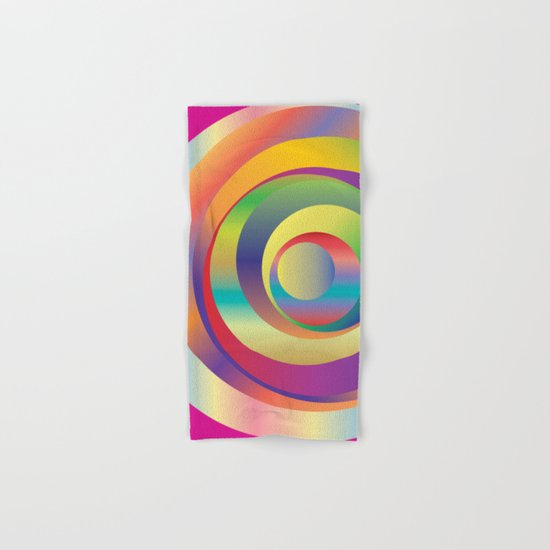 Circles - Optical Game 9 Hand & Bath Towel