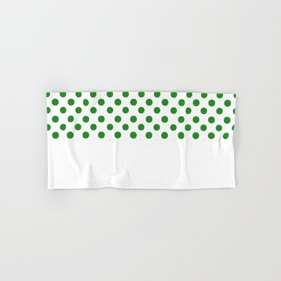 Polka Dots (Forest Green/White) Hand & Bath Towel