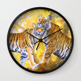 Jurijhura and her cub Wall Clock