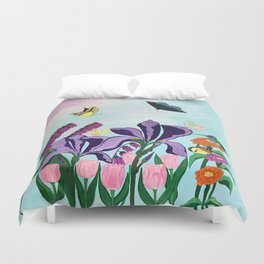 Garden of Heavenly Delight Duvet Cover