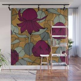 Eucalyptus and Waratah Wall Mural