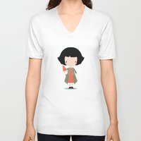 amelie V-neck T-shirts featuring Amelie by Juice for Breakfast