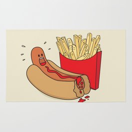 Fast Food Massacre Rug