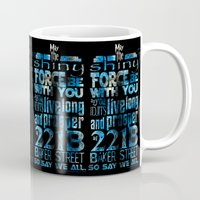 fandom Mugs featuring Fandom Motto by Tracey Gurney