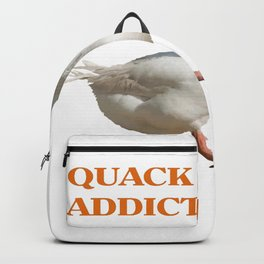 Strolling Duck Quack Addict Backpack