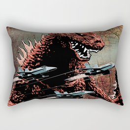 Godzilla Cover Art G-Fan Magazine Rectangular Pillow