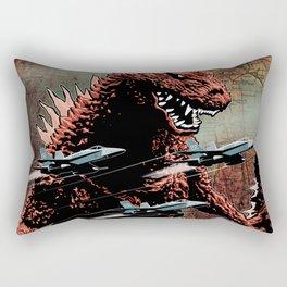 Godzilla Cover Art G-Fan Magazine Rectangular Pillow