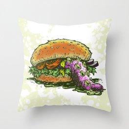 Octoburger Throw Pillow