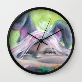Z imagination Bunny Girl Wall Clock