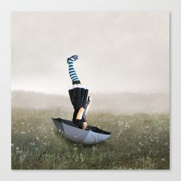 Umbrella melancholy Canvas Print