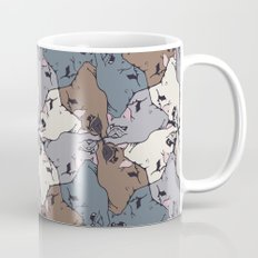 Frenchie Yoga Tessellations Mug