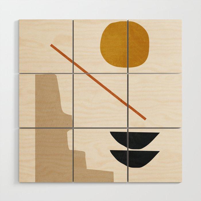 abstract minimal 6 Wood Wall Art